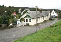 The road approach to Plockton station in October 2009.<br><br>[John Furnevel&nbsp;29/10/2009]