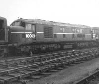 Ex-LMS Co-Co Diesel no 10000 stored at Derby Works on 1 November 1964.<br><br>[David Pesterfield&nbsp;01/11/1964]