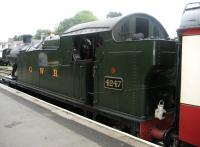 Ex-GWR 2-8-0 tank no 4247 at Bodmin General on the Bodmin and Wenford Railway in August 2008.<br><br>[Bruce McCartney&nbsp;28/08/2008]