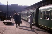 Skiers heading for Aviemore join the 2.03pm DMU at Waverley on 23rd March 1963.<br><br>[Frank Spaven Collection (Courtesy David Spaven)&nbsp;23/03/1963]