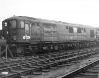 1Co-Co1 Diesel no 10202 stored at Derby Works in November 1964. Although the locomotive appeared after nationalisation it was a Southern Railway design and the influence of Mr Bulleid can be clearly seen.<br><br>[David Pesterfield&nbsp;01/11/1964]