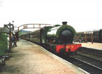 No 9 waits at Boat of Garten to return to Aviemore on 17 May 1998<br><br>[David Panton&nbsp;17/05/1998]
