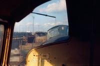 Room with a view.....� as seen from the cab of a Clayton Type 1 on the scrap line at Millerhill yard in 1971.<br> <br><br>[Bill Roberton&nbsp;//1971]