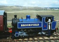Bagnall 0-6-0PT 'Brookfield' in action on the Pontypool & Blaenavon Railway in May 1991.<br><br>[Peter Todd&nbsp;19/05/1991]