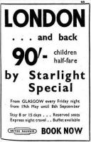 Accompanying advert from <I>Murray's Diary</I> of April 1961 for the <I>Starlight Specials</I> popular in the 1950s and early 60s. The last of the specials operated in 1962 [see image 19303].<br><br>[Colin Miller&nbsp;/04/1961]