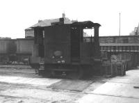 Old <I>tram engine</I> photographed standing alongside the paint shop at Crewe Works on 24 June 1962.<br><br>[David Pesterfield&nbsp;24/06/1962]