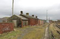 Looking east from Stranraer Town Station, taken in March 2006, not long before the site was cleared. <br> <br><br>[Colin Miller&nbsp;27/03/2006]