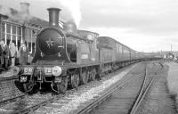 The RCTS <i>Solway Ranger</i> stands at Silloth on 13 June 1964 with ex-CR no 123 at the buffer stops. <br> <br><br>[K A Gray&nbsp;13/06/1964]