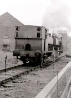 Rides at Prestongrange museum in the 1980s, by the simple method of the public being conveyed on the footplate of the dead pug pulled and pushed by the one in steam. Note the sleeper 'platform' on the right.<br> <br><br>[Colin Miller&nbsp;//]