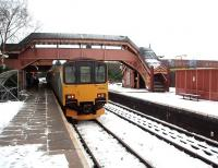 There is still plenty of evidence of GWR ownership at Stratford-upon-Avon station, as well as three operational platforms. London Midland Sprinter 150018 stands in fresh snow at Platform 1 on 11 January waiting to form a service to Stourbridge Junction via Birmingham Snow Hill. <br><br>[Mark Bartlett&nbsp;11/01/2010]