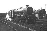 Jubilee 4-6-0 no 45702 <I>Colossus</I> in the shed yard at Polmadie in May 1959.<br><br>[A Snapper (Courtesy Bruce McCartney)&nbsp;16/05/1959]