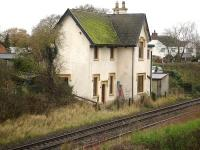 Former station house at Worleston (closed 1952) on the down side of the Crewe to Chester line in November 2009. <br><br>[David Pesterfield&nbsp;24/11/2009]