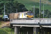 92012 <I>Thomas Hardy</I> crosses the Clyde at Lamington with a down freight in the summer of 2007. <br><br>[John Furnevel&nbsp;31/07/2007]