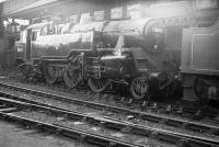 BR Standard class 4 2-6-4T no 80114 alongside the coaling stage at St Margarets shed in January 1964.<br><br>[Robin Barbour Collection (Courtesy Bruce McCartney)&nbsp;03/01/1964]