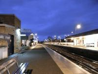 Evening at Kirkcaldy, looking south on 24 January 2010.<br><br>[David Panton&nbsp;24/01/2010]