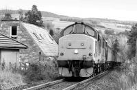 37415 enters Pitlochry from the south with <I>The Royal Scotsman</I> in January 2001.<br><br>[Bill Roberton&nbsp;/01/2001]