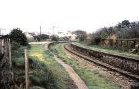Looking east towards Glasgow along the platforms at Greenock Lynedoch in the summer of 1969. Opened as Lynedoch in December 1869 the name was expanded in 1898. The station was eventually closed to passenger traffic in February 1959. <br><br>[Colin Miller&nbsp;//1969]