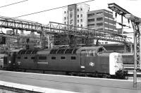 Deltic 55013 <I>The Black Watch</I> stands at Kings Cross on 27 June 1978.<br><br>[Peter Todd&nbsp;27/06/1978]