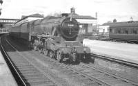 Black 5 no 45389 on a southbound train at Stirling on 3 April 1961.<br><br>[K A Gray&nbsp;03/04/1961]