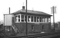 Duddingston Junction signal box, photographed shortly after closure in June 1969.<br> <br><br>[Bill Jamieson&nbsp;//1969]