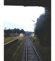 Photograph taken from an Aberdeen bound train looking towards Dinnet station on the Royal Deeside line in the summer of 1965.<br><br>[Frank Spaven Collection (Courtesy David Spaven)&nbsp;//1965]