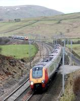 Voyagers passing between Tebay and Scout Green. View looks south to Tebay.<br><br>[Ewan Crawford&nbsp;28/01/2010]