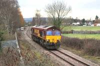 EWS 66016 running west light engine towards Portbury coal import terminal on 9 February 2010.<br><br>[Andy Kirkham 09/02/2010]