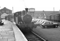 Collett 0-4-2T no 1458 stands in the bay at Oswestry with the auto-train for Gobowen in April 1963.<br><br>[K A Gray&nbsp;02/04/1963]