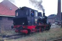 No 4 at Boekelo in August 1978. Located on the Burtspoorweg Museum Railway between Boekelo and Haarksbergen, northern Holland, close to the German border. [Locomotive 0-6-0wt, Hanomag 1925, Factory no 10431.]<br> <br><br>[Peter Todd&nbsp;12/08/1978]