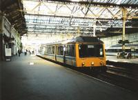 117 313 stands at Waverley platform 17 in May 1997 with the 1727 to Perth via Dunfermline.<br><br>[David Panton&nbsp;/05/1997]