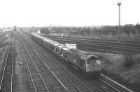 BRCW Type 2 no D5306 runs into Millerhill Yard from the north on 5 November 1969 with a train of Presflos, thought to be the 1140 Irvine � Oxwellmains.<br><br>[Bill Jamieson&nbsp;05/11/1969]
