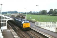<I>Peak</I> 45050 takes a train through Church Fenton heading for Pontefract on 14 August 1980<br> <br><br>[Peter Todd&nbsp;14/08/1980]