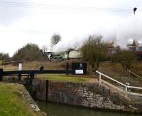 60163 <I>Tornado</I>, pictured here on 14 February 2010 with a special passing Crofton pumping station on the Kennet and Avon canal.<br><br>[Peter Todd&nbsp;14/02/2010]
