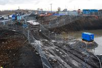 Looking west towards the former station site at Armadale.<br><br>[Ewan Crawford 17/02/2010]