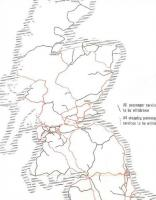 From 'The Reshaping of British Railways' (Beeching Report - 1963) showing BR proposed withdrawal of passenger services. Black lines indicate 'all passenger services to be withdrawn', hatched red lines 'all stopping passenger services to be withdrawn'. Despite some dreadful closures, Scotland saw several survivors, including Kyle, the Far North, Shotts, Glasgow-Barrhead-Kilmarnock and Ayr-Stranraer. Note that not even Beeching proposed closure of St Andrews, Leven, Alloa, Grangemouth and Cowdenbeath-Kinross-Perth!<br><br>[David Spaven&nbsp;//1963]