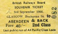 Tickets and labels 03/09/1966