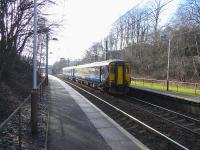 156 510 with a Paisley Canal - Glasgow Central service at Dumbreck on 17 February 2010<br><br>[David Panton&nbsp;17/02/2010]