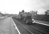 Kingmoor Black 5 no 44692 stands at Beattock station with a southbound stopping train around 1965. <br> <br><br>[Robin Barbour Collection (Courtesy Bruce McCartney)&nbsp;//1965]