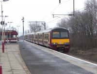 320 316 with an Airdrie - Balloch service at Dumbarton East on 17 February 2010<br><br>[David Panton&nbsp;17/02/2010]