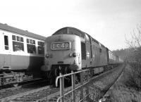 Deltic 9013 <I>The Black Watch</I> passing St Margarets on 28 February 1970 with train 1S48 the 09.50 SO York - Edinburgh.<br><br>[Bill Jamieson&nbsp;28/02/1970]