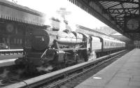Black 5 no 44998 stands at Glasgow's Buchanan Street station c 1964.<br><br>[K A Gray&nbsp;//1964]