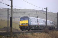 A southbound train on the East Coast Main Line nears the border at Marshall Meadows on 27 February 2010.<br><br>[Bill Roberton&nbsp;27/02/2010]