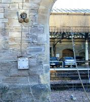 Remains of the old telephone equipment on the wall of the former holding sidings alongside Perth station in February 2010. It never worked. The Secondman always ended up being sent to see the gaffer, or fitter, or whoever was required! <br> <br><br>[Gary Straiton&nbsp;27/02/2010]