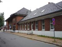 Station buildings at Travemunde Hafen on Germany's Baltic coast in July 2009. The location is now operated as a restaurant. <br><br>[John Steven&nbsp;23/07/2009]
