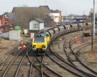 One of the new Freightliner class 70 locomotives brings a coal train for Fiddlers Ferry power station west through Arpley Junction, Warrington, on 3 March 2010.<br><br>[John McIntyre&nbsp;03/03/2010]