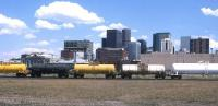 Glorious weather to watch freight trains passing through Denver, Colorado, in the summer of 1994.<br><br>[David Spaven&nbsp;//1994]