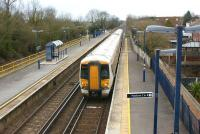 A morning London to Ramsgate service enters Minster station in the hands of 375712 on 6 March 2010.<br> <br><br>[John Mcintyre&nbsp;06/03/2010]