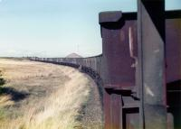 9T26 coal empties from Ravenscraig No 2 for Polkemmet October 1978 on the Benhar branch.<br><br>[William Barr&nbsp;/10/1978]