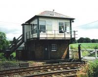 The signal box at Holywood, Dumfries & Galloway, photographed in July 1998.<br><br>[David Panton&nbsp;/07/1998]
