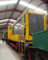 A pioneer back in its birthplace. As Netherlands State Railways No.601 this shunter was the first of the <I>Dutch Class 11</I> locos to be built by English Electric at the former Dick Kerr works in Preston in 1955. It was later converted to remote control radio operation (and renumbered 671) but at the end of its working life in Holland was repatriated to the UK in 2005. It is currently a non-operational exhibit at the Ribble Steam Railway and seen here in a line of locomotives that also includes the L&YR A Class 0-6-0 No.1300 (BR 52322).  <br><br>[Mark Bartlett&nbsp;06/02/2010]